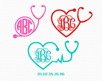 Nurse Stethoscope SVG, Nurse SVG, Nurse Stethoscope, Nurse, Stethoscope SVG, Stethoscope, for CriCut Silhouette cameo Files svg jpg png dxf