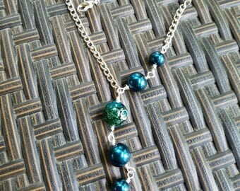 Teal Asymmetrical Necklace