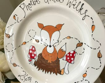 Hand Painted Children's Gift - Plate