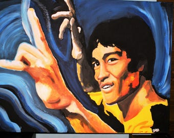 Bruce Lee Art - Original painting on canvas (60 x 80 cm)