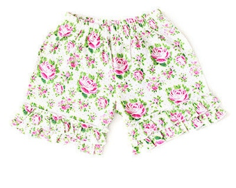 Rose Ruffled Shorts