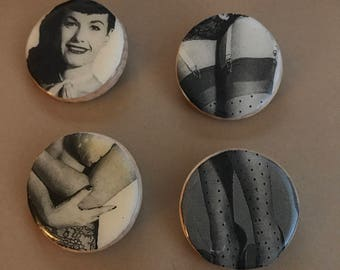 Bettie Page: Deconstructed Pins
