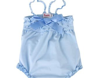 Puuper swimsuit Paulina with swim nappy blue