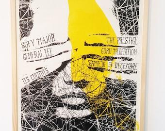 Silk-screened poster