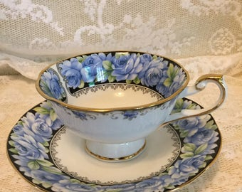 Cup & Saucer Elizabeth Rose Queen's Rosina China Co