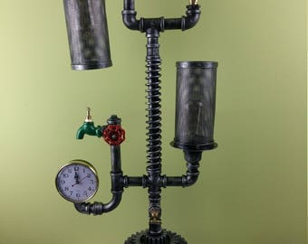Steampunk vintage lamp water pipes industrial design pipe lamp