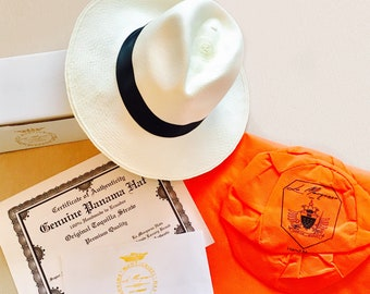 Genuine Panama Hats Rollable FINEST QUALITY from Ecuador - Super Fine - Whitened