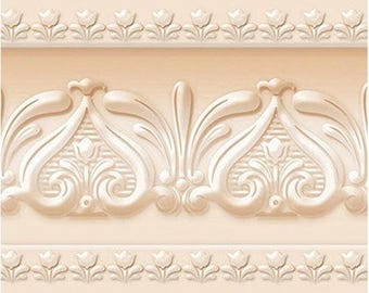 Royal Tulip Peel and Stick Wall Border Easy to Apply (Naples Yellow)20924