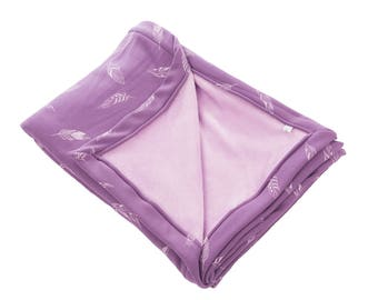 Blanket bedspread blankie duvet cover for boy and girl new 200 cm x 140 cm blankie purple Springs children's blankets