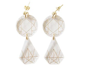 Acryl Diamond Earrings