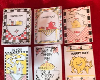 Happy Kitchen gift tags, set of six