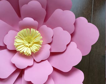 7 Large Paper Flowers