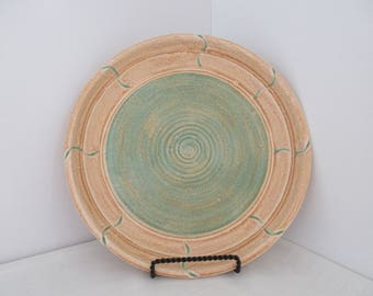 FREE SHIPPING Hand Thrown Earth Tone Ceramic Plate