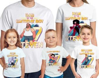 Steven Universe Birthday T-Shirt Steven Universe Birthday Boy Personalized Shirt Name and Age
