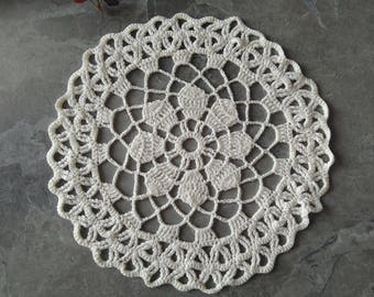 Viscose crochet Doily Vintage look hand crochet handmade table mats great for home or wedding decor