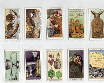 "Full set of 50 ""Treasure Trove"" Cigarette Cards from 1937"