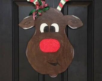 Rudolph door hanger