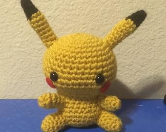 Pikachu (Pokemon) Crochet Amigurumi Plush Doll