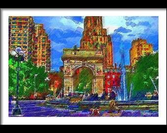 NYU Framed Print