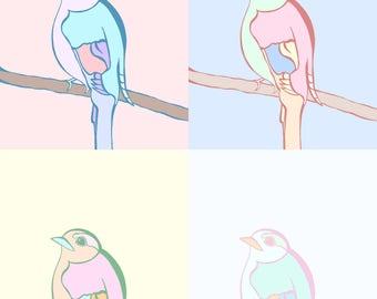 "Pastel Pop Art Inspired ""Birds"" by Shelby V."