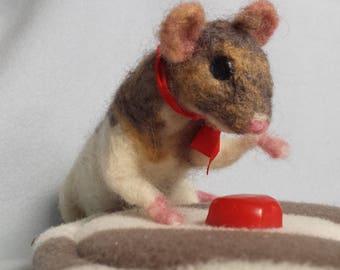 Needle felted rat / needle felted pet advice