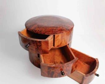 Round - Wooden Jewelry Box