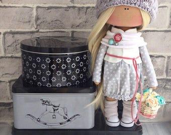Doll, Art doll, fabric doll, Soft doll, textile doll, interior doll, doll, cloth doll, home decor