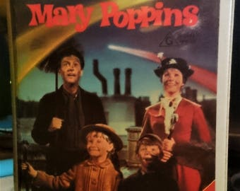 Mary Poppins Vintage 1980's VHS Videotape Walt Disney Home Video PAL