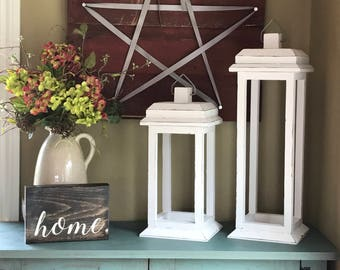 Rustic Lantern - Wood Lantern - Wedding - Bridal Shower - Wedding Decorations - Rustic Bridal Shower - Wedding Gift  - Farmhouse Decor