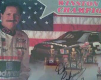 Dale Earnhardt Five Time Champion autographed 8x10 photo