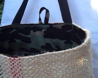 Camouflage hessian Shopping Bag