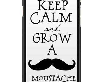 Case Iphone 4, 5, 6, 7 003 edges black Moustache