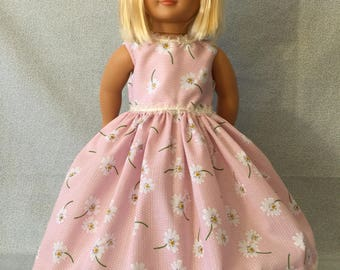 18 inch doll dress pink and lace