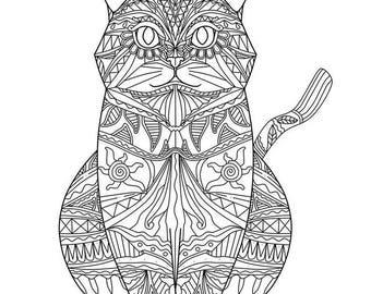Cat Mandala SVG