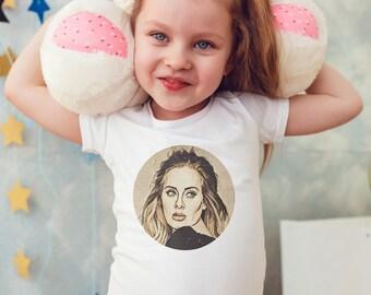 Adele Kids Shirts Kids tshirt Toddler Shirt Gift For Kids Children Shirts Kids Shirt Kid T-Shirt Boys Top Girls Top Rock Kids Clothes