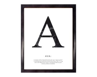 Marble Effect Personalised Name Art