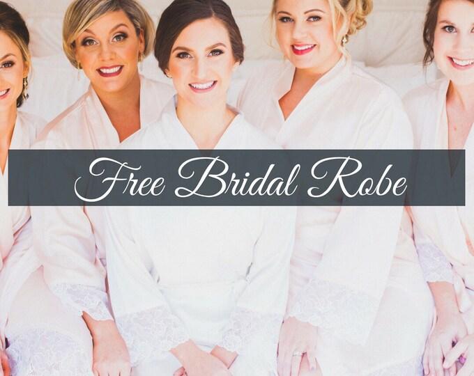 Bridal Robes, Bridesmaid Robes, Custom Embroidered Bridal Party Satin Robe, Bride Robe, Personalized Silky Satin Kimono Robes, Wedding Party