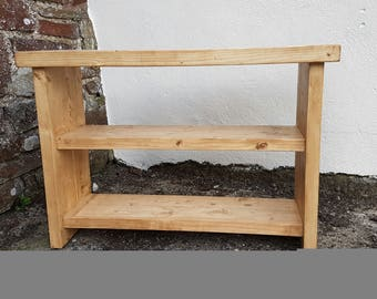 solid pine storage bench