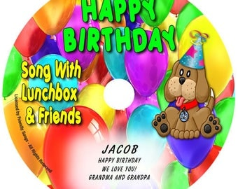 Personalized children's music CD - Your Child's Name in the song! Happy Birthday Song