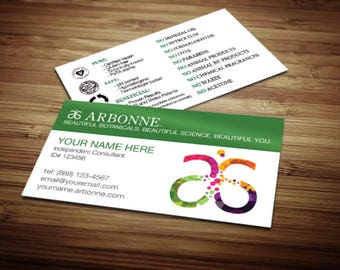 Arbonne Business Card Design 5 Modified Green
