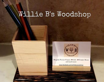 Hardwood Stationary and Business Card Holders