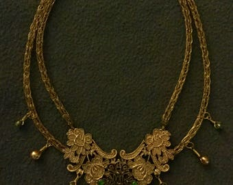 Vintage looking Viking Knit Necklace