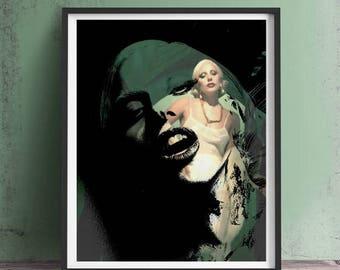 Lady Gaga American Horror Story Art Print or Canvas, Wall Art, Artwork, Gift