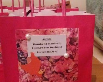 Hen Wedding bridesmaid bags