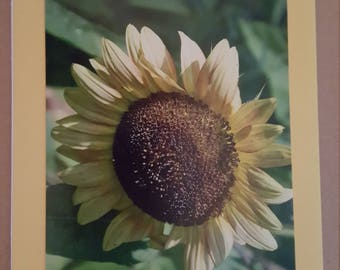 Blank Handmade Photo Card on Yellow With Matching Envelope