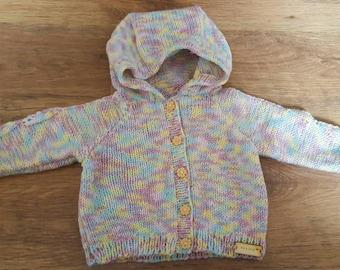 hand knitted girls hoodie