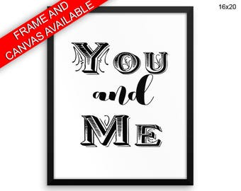 You And Me Canvas Art You And Me Printed You And Me Love Art You And Me Love Print You And Me Framed Art You And Me together love