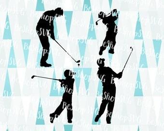 Golfer SVG, Golf SVG, Golf Bundle SVG, Men Golfer Svg, Boy golfer Svg, Dad son Golf Svg, Instant download, Eps - Dxf - Png - Svg