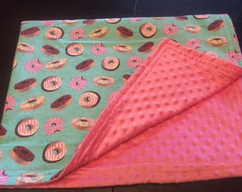 Fun Doughnut Baby Blanket, Minky Baby Blanket