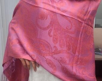 Pashmina, Silk and Wool Pashmina Scarf, Silk and Wool Pashmina Shawl, Scarf, Shawl, Classy Shawl
